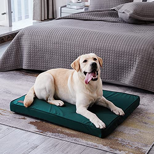 WESTERN HOME WH Dog Crate Beds for Large Dogs, Crate Dog Pad Calming Cooling Dog Bed Egg Orthopedic Foam Pet Bed with Washable and Removable Cover Waterproof Non-Slip Bottom - M…