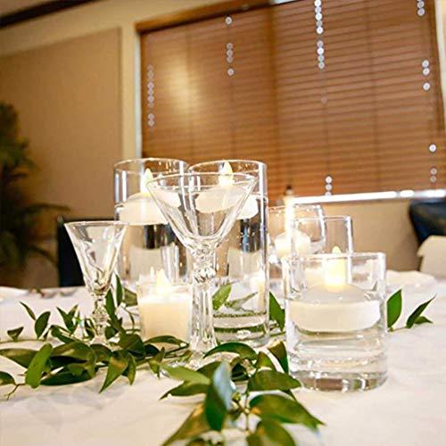 Uonlytech velas flotantes led, luces de vela sin llama realistas, luces de té led para festival de fiesta de bodas (4 piezas, blanco)