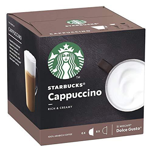 Starbucks Nescafé Dolce Gusto Cappuccino, caffè, Crema, Capsule di caffè, caffè Tostato, 12 Capsule