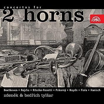 Beethoven, Rejcha, Rössler-Rosetti, Pokorný, Fiala, Haydn, Hanisch: Concertos For 2 French Horns