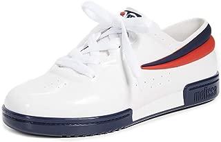Melissa Women's x Fila Sneakers, White/Blue/Red, 6 Medium US