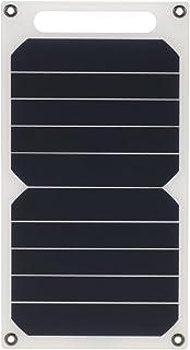 شاحن شمسي من Honelife بقوة 10 وات محمول رفيع للغاية من السيليكون البلوري أحادي اللون 5 فولت منافذ USB لـ 6s/6/Plus iPad Ga...