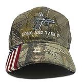 Military Imagine Camo Handgun Come and Take It Gun Cap Hat American Flag