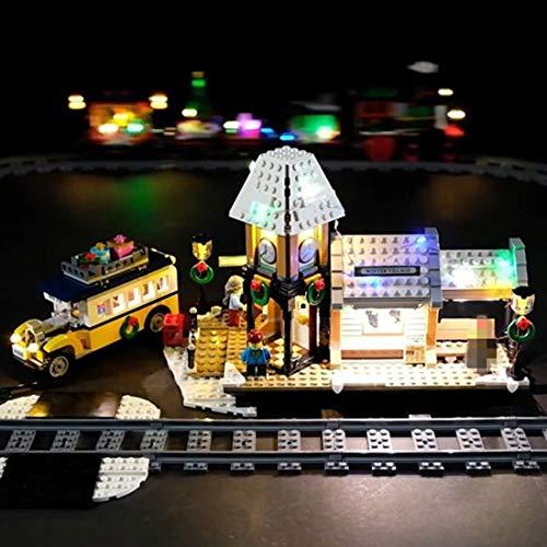 TETAKE Juego de iluminación LED para estación de tren Lego – 10259 (no incluye modelo Lego).
