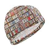 Badekappe, Badehut, Awesome Neat Bookshelf Swim Caps for Kids Boys and Girls Baby Bathing Caps for Long and Short Hair