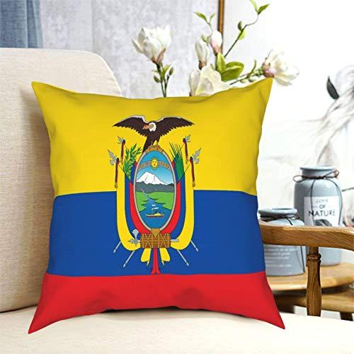 SUN DANCE Fundas de cojín cuadradas de la bandera de Ecuador, para decoración del hogar, funda de almohada cuadrada para sofá, dormitorio, coche, 50,8 x 50,8 cm