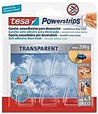 tesa Powerstrips Deco-Haken, transparent, für max. 200g,