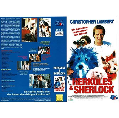 Herkules + Sherlock, Christopher Lambert - VHS-Einleger A4 - ohne Cassette/Hülle