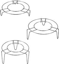 Pressure Cooker Trivet Food Rack: 3pcs Vegetable Steamer Shelf Metal Steaming Rack Basket Stand Wok Pan Kitchen Gadget