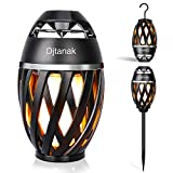 Djtanak Led Flickering Table Lamp, Tiki Torch Atmosphere Outdoor Bluetooth Speaker with Pole and...