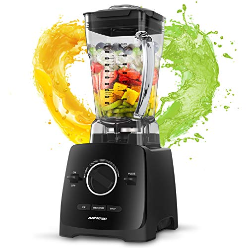 Anthter Smoothie Blender, 1600W Professional Countertop Blender for Kitchen, with 68oz BPA Free Pitcher, 3 Presets, 6-Leaf Stainless Steel, Ideal for Smoothies, Milkshakes, Ice Crushing, and Juice
