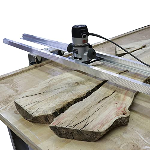 Slab Jig – Router Sled for Woodworking – Levels Wood Slabs Up to 64 Inches Wide! Portable, Durable, and Easy to Adjust! Great for River Tables and Home Improvement Projects!