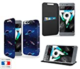Case-Industry - Custodia di lusso per Honor 9 Planet Galaxy Rocket is launched ! Collection Pattern with Stand - Custodia protettiva Honor 9 - Pochette