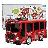 Juguete de autobús, juguete de autobús eléctrico de simulación con luz musical, el mejor cumpleaños para niños, niñas y niños pequeños(rojo)