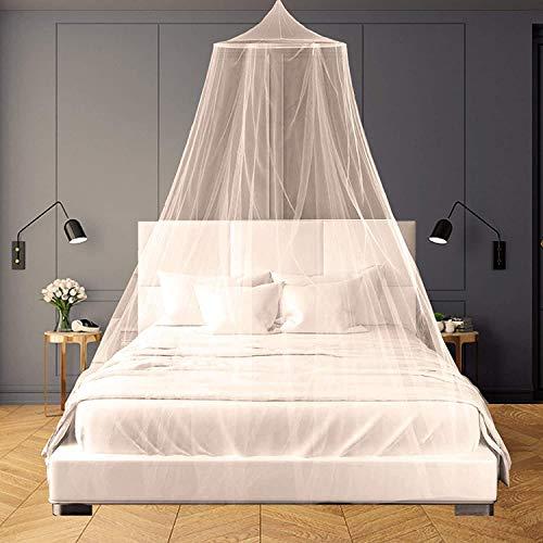 Mosquitera para Cama,Fácil Cama Colgante Canopy Netting, Protección de Red de Insectos para Camas Individuales y Dobles
