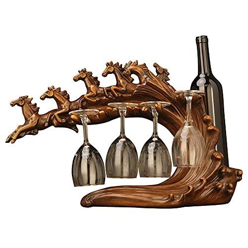 CMMT Titular de Vino Europeo Creativo Estante de Vino Decoración de la Copa de Vino Titulares Decoración del hogar Estante de Vino Restaurante Armario de Vino Crafts