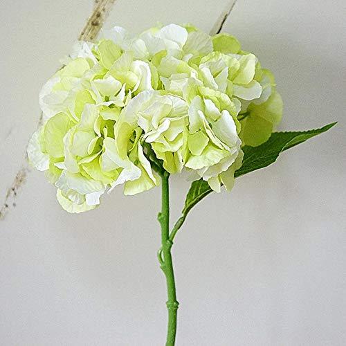Kunstmatige pioenbloem Thuis Bruiloft Verjaardag Nieuwjaar Valentijnsdag Dag Floral Decor Zijde Hortensia's Vaas Bloemstuk, groen