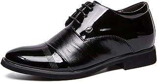 CAIFENG Oxford para Hombres Moda Casual Altura de Color sólido Altura Creciente Plantilla de Zapatos Formales (Convenciona...