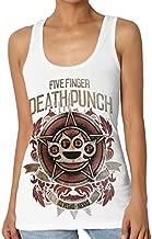 Five Finger Death Punch Women Casual Shirt Sleeveless Tank Top Basic T Shirt M Black