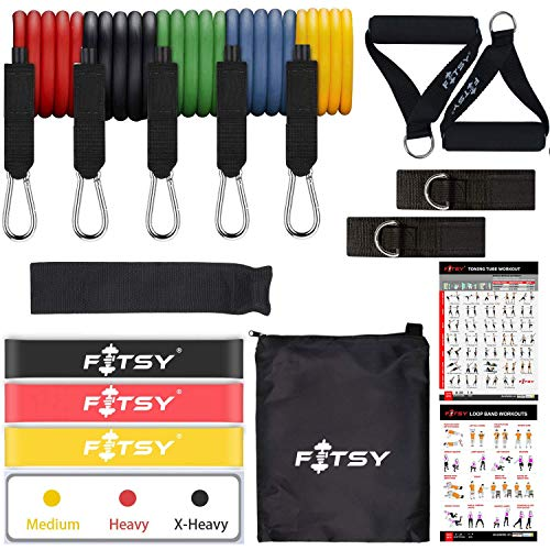FITSY 16PCS Resistance Band Home Exercise Set
