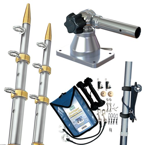 TACO Metals GS-170VEL15-1 / Taco Grand Slam 170 Outrigger Kit w/Silver/Gold 15039; Outriggers, Rigging Kit & Line Caddy