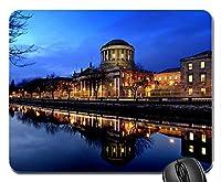 都市の川辺の夜景アイルランド新しいデザインラバーコンピューターマウスパッドマット