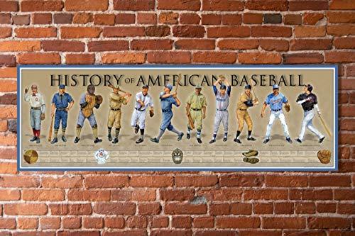 History of American Baseball Poster