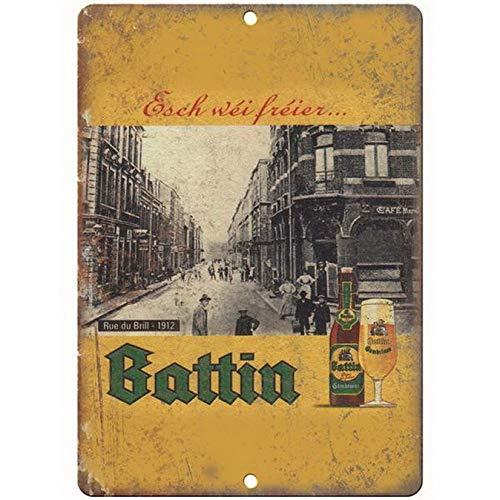 ABLERTRADE Blechschild Battin European Vintage Bier-Anzeige Vintage Look Bier Blech Schild Man Cave Bar Schilder