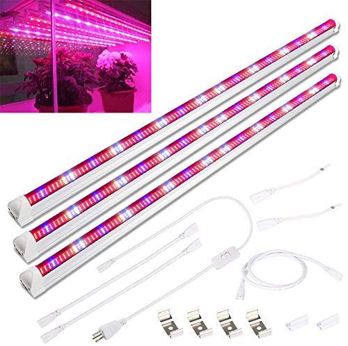 Derlights 45W 90CM Pflanzenlicht Pflanzenlampe Vollspektrum [3 Stück] Pflanzenleuchte 448pcs LEDs pflanzenlampe Grow Lampe Wachstumslampe für Pflanzen Gemüse und Blumen Gewächshaus Hydrokultur