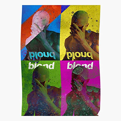 Fsgedana Channel Hippie Orange Blond Frank Trippy Cool Ocean Blonde - Music - Posters Art Design Printed Artist Home Decor Artwork for Living Room Bed Room Wall Decoration No Frame Customize