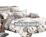 Swanson Beddings Daisy Silhouette 100% Cotton Sheet Set : Fitted Sheet, Flat Sheet and Two Matching Pillowcases (Queen)
