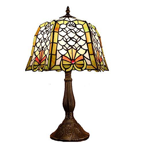 Table Lamp Lamp American Retro Living Room Tiffany Style Desk Lamp Study Bedroom Led Glass Decoration Bedside Lamp Table Light 30 * 50cm