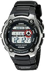 top 10 casio se 700 Casio WV200A-1AV Waveceptor Men's Watch with Black Strap