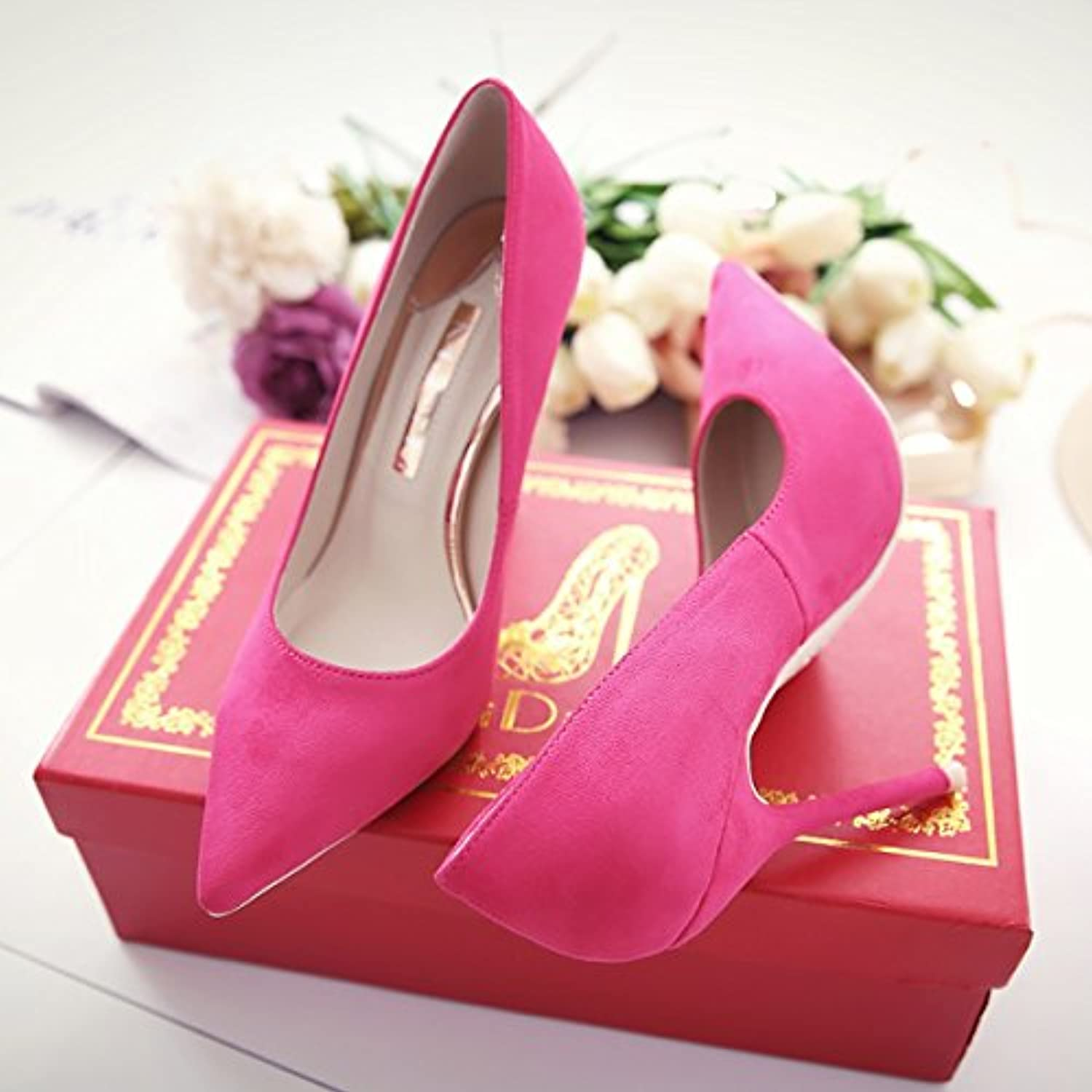 GAOLIM The Bare-colord Tip Light The High-Heel shoes 10Cm Thin Women With Single shoes Wedding shoes