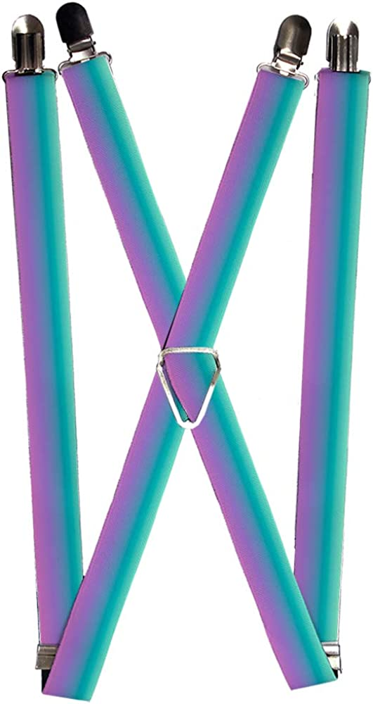 Buckle-Down Unisex-Adult's Suspender-Ombre, Multicolor, One Size