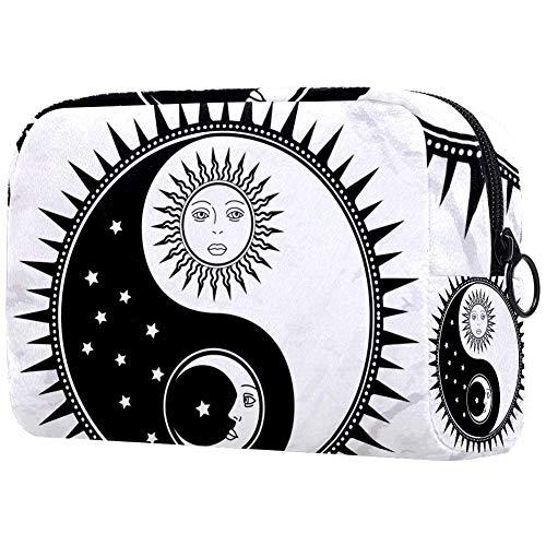 Tikismile Trousse de maquillage Yin Yang avec soleil et lune Grand format