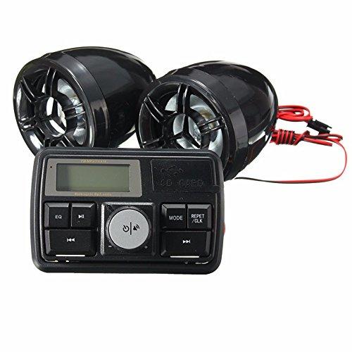 Alamor Moto Manillar Estéreo Sistema Radio Amplificador Mp3 Altavoces Con Función Bluetooth