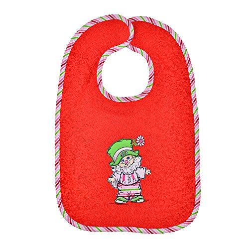 Mauz by wörner bébé clown rouge bavoirs, serviettes de bain et gant poncho peignoir, rouge, Riesen-Klettlätzchen 30x45cm