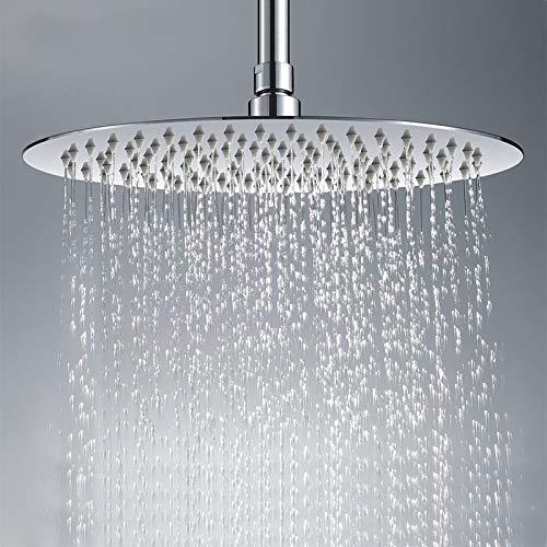 KEKEYANG Alcachofa 300 * 300 mm de alta Qua grande redonda fina de acero inoxidable cabezal de ducha de lluvia grifo de la ducha Diámetro duchas de mano