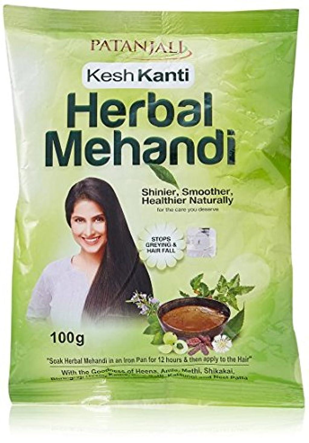 建築スイッチ略奪Patanjali Herbal Mehandi, 100g (Pack of 2)