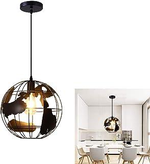 Rétro Lampe Suspension plafond Métal intérieur Industriel pendentif Suspensions Luminaires E27 Lustre globe créatif Lustre...