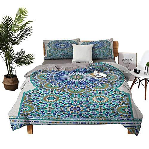 DRAGON VINES - Juego de sábanas de seda de cuatro piezas para almohada de cuernos en el bosque de Alaska oxidado, diseño abstracto de ciervos, madera de melocotón y marrón