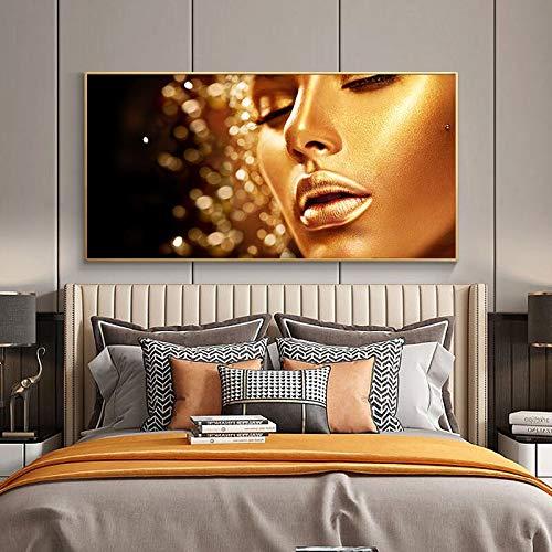 wZUN Cuadro en Lienzo con Retrato Indio Abstracto Moderno, Carteles e Impresiones para decoración del hogar, Imagen Mural nórdica para Sala de Estar, 50x100cm