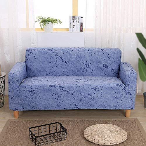 HFTYCC Fundas para sofá, 1-4 Asientos, decoración del hogar, sofá, Juegos de sofá, Tela elástica Lavable, Antideslizante, Protector para Mascotas, Fundas para sillas, 1 Plaza, Azul Cielo