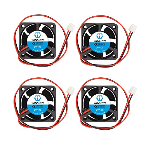 WINSINN Ventilador de 40 mm 24 V sin escobillas 4020 40 x 20 mm para refrigeración Creality Ender 3 / Pro - Alta velocidad (Paquete de 4 unidades)