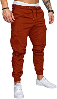 Howely Men Relaxed-Fit Cotton Mid Waist Athletic-Fit Drawstring Sweatpant