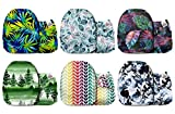 Mama Koala Unisex Baby Reusable Washable Pocket Cloth Diapers with 6 Microfiber Inserts-Pack of 6 (Leafy Wonders)