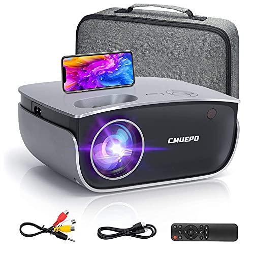 Filmprojektor – Tragbarer Mini-Projektor, 5500 Lumen & 1080P unterstützter Videoprojektor, kompatibel mit Android/iOS/HDMI/USB/VGA/Fire TV