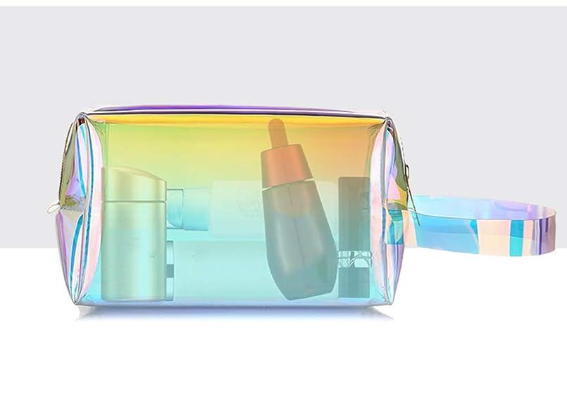 チャペルアダルト彼らのホーム朵 メイクポーチ 化粧バッグ オーロラカラー レーザー 透明バッグ 防水 収納携帯用 おしゃれ コスメポーチ たっぷり収納 旅行 便利 大容量 超軽量