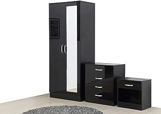 Amazon It Moderno Set Di Armadi Componibili Camera Da Letto Casa E Cucina